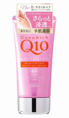 Крем для рук гелевый с коэнзимом Q10 с цветочным ароматом Kose Coen rich Q10 moist gel 80г: фото