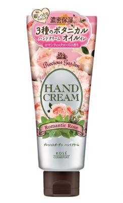 Крем для рук питательный и увлажняющий с ароматом розы Kose Precious garden romantic rose 70г: фото