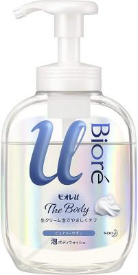 Мыло-пенка для душа с освежающим ароматом KAO Biore u foaming body wash pure savon 540мл: фото