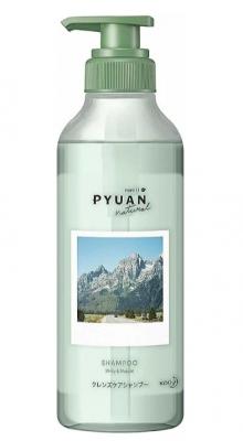 Шампунь для волос с ароматом мяты и ландыша KAO Merit pyuan natural minty & muguet 425мл: фото