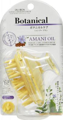 Щетка массажная для мытья волос с маслом льна IKEMOTO Botanical amani oil: фото