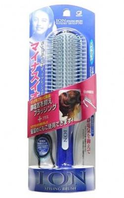 Расческа с отрицательными ионами и турмалином IKEMOTO Negative ion blow styling brush: фото
