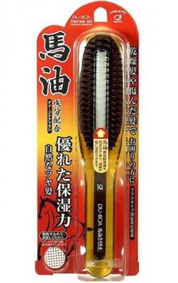 Щетка для поврежденных волос с лошадиным маслом IKEMOTO Du-boa horse oil damage care brush: фото