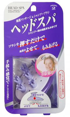 Щетка для массажа кожи головы и мытья волос IKEMOTO Head spa brush фиолетовая: фото