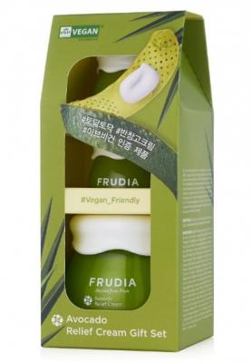 Набор подарочный восстанавливающих кремов с авокадо Frudia Avocado relief cream set 55мл+10мл*2: фото