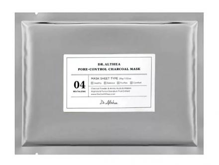 Маска тканевая очищающая с угольным порошком Dr.Althea Pore-control charcoal mask 28г: фото