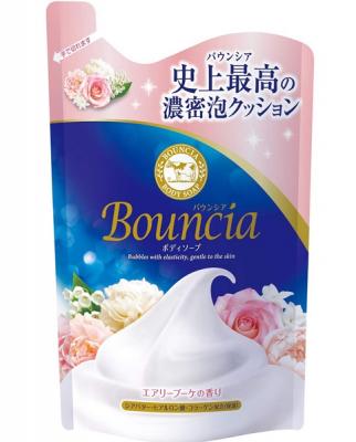 Мыло для тела со сливками и ароматом роскошного букета COW GYUNYU SEKKEN Bouncia airy bouquet 400мл: фото