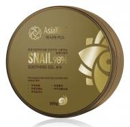 Гель для лица и тела увлажняющий с муцином улитки AsiaKiss Soothing gel snail 300мл: фото