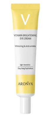Крем для век тонизирующий витаминный с пептидами MediFlower Aronyx vitamin brightening 40мл: фото