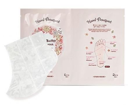 Маска-носочки для ног с маслом ши ETUDE HOUSE Hand Bouquet Rich Butter Foot Mask: фото