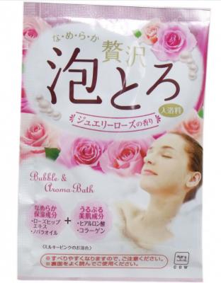 Пенящаяся соль для ванны с коллагеном и гиалуроновой кислотой Роскошная роза COW Babble & Aroma Bath GYUNYU SEKKEN 30 г: фото