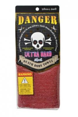 Мочалка массажная ультражесткая Yokozuna Death body towel красная 29*100см: фото