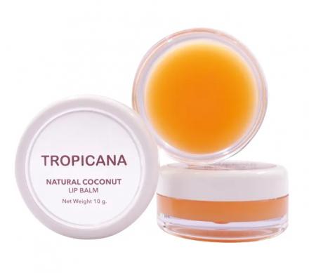 Бальзам для губ АРОМАТ МАНГО Tropicana Natural coconut lip balm mango spirit 10г: фото