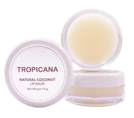 Бальзам для губ КОКОСОВОЕ НАСЛАЖДЕНИЕ Tropicana Natural coconut lip balm coconut delight 10г: фото