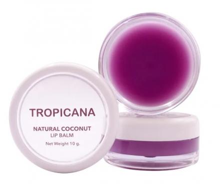 Бальзам для губ ВЕСЕЛАЯ ШЕЛКОВИЦА Tropicana Natural coconut lip balm mulberry cheerful 10г: фото