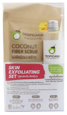 Набор скраб для лица и тела и кокосовое масло Tropicana Fiber scrub + Oil: фото