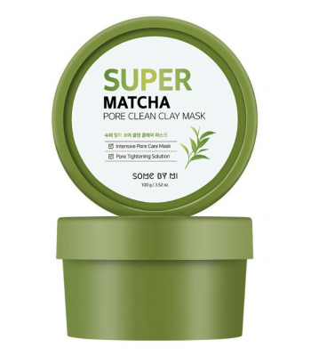 Маска очищающая глиняная с чаем матча Some By Mi Super matcha pore clean clay mask 100мл: фото