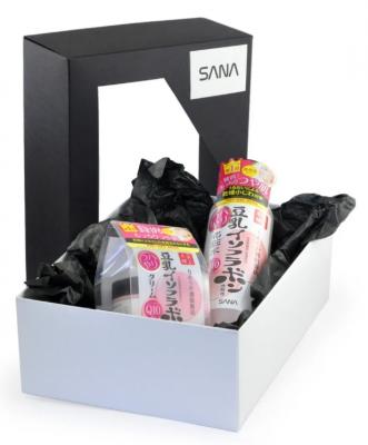 Набор подарочный Sana Уход за кожей с изофлавонами сои и Q10: Увлажняющий лосьон 200мл + Увлажняющий крем 50г: фото