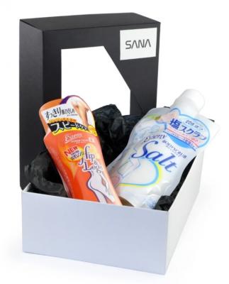 Набор подарочный Sana Стройный силуэт: Массажная соль для тела 350г + Массажная эмульсия для тела 200мл: фото
