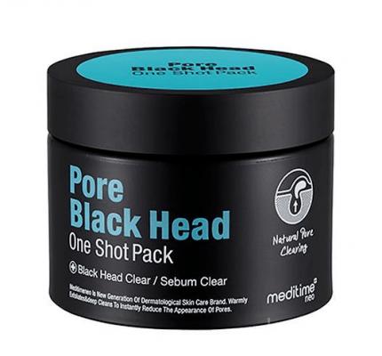 Маска разогревающая для глубокого очищения пор Meditime Pore black head one shot pack 100г: фото
