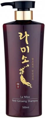 Шампунь с экстрактом красного женьшеня La Miso Red ginseng shampoo 500мл: фото