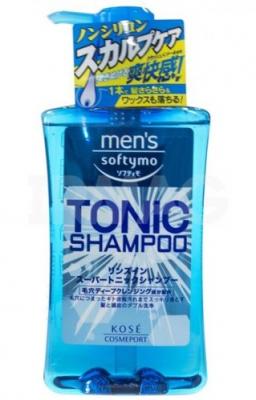 Шампунь для волос тонизирующий с цитрусовым ароматом Kose Mens softymo tonic shampoo 550мл: фото