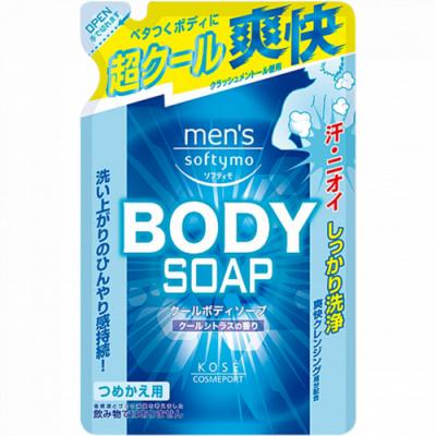 Мыло для тела жидкое с цитрусовым ароматом Kose Mens softymo cool body soap 400мл: фото