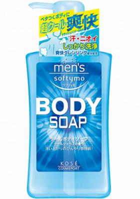 Мыло для тела жидкое с цитрусовым ароматом Kose Mens softymo cool body soap 550мл: фото