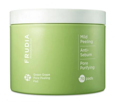 Диски отшелушивающие с зеленым виноградом Frudia Green grape pore peeling pad 50шт: фото